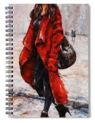 Rainy Day - Red And Black #2 Spiral Notebook