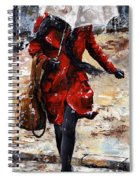 Rainy Day - Woman Of New York 10 Spiral Notebook