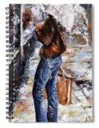 Rainy Day - Woman Of New York 15 Spiral Notebook