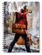 Rainy Day - Woman Of New York 17 Spiral Notebook