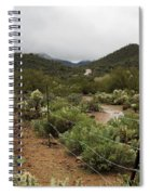 Rainy Desert Spiral Notebook
