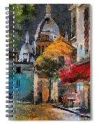Rainy Evening In Montmartre Spiral Notebook