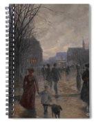 Rainy Evening On Hennepin Avenue Spiral Notebook