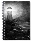 Rainy Night At The Lighthouse Spiral Notebook