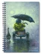 Rainy Ride Spiral Notebook