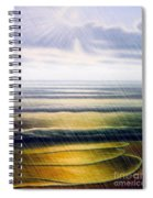 Rainy Seascape Spiral Notebook