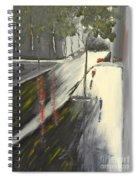 Rainy Street In Melbourne Spiral Notebook