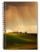 Rainy Sunny Toscany Spiral Notebook