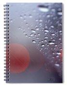 Rainy Windshield Brake Lights Spiral Notebook