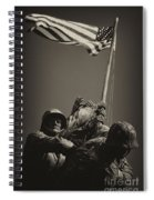Raising The Flag On Iwo - Front Spiral Notebook
