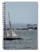 Ram Island Ledge Light And Schooner Spiral Notebook