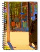 Ramacieri Soligo Building Supplies Rue Van Horne Outremont Montreal Street Scene Art Carole Spandau Spiral Notebook