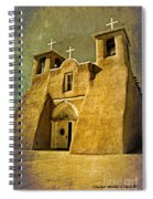 Ranchos Church In Old Gold Spiral Notebook
