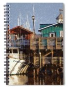 Randys Whale Watching And Fishing Trips Watercolor Spiral Notebook