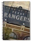 Rangers Ballpark In Arlington Color Spiral Notebook