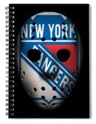 Rangers Goalie Mask Spiral Notebook