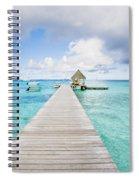 Rangiroa Atoll Pier On The Ocean Spiral Notebook