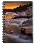 Rapids At Dawn Spiral Notebook