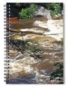Rapids Of The Swift River Kancamagus Hwy View White Mountains Nh Spiral Notebook