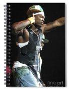 Rapper Fifty Cent Spiral Notebook