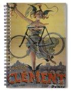 Rare Vintage Paris Cycle Poster Spiral Notebook