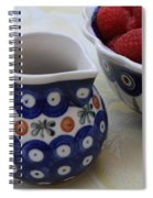 Raspberries With Cream Spiral Notebook