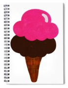 Raspberry And Chocolate Ice Cream Cone  Spiral Notebook