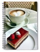 Raspberry Delice And Latte Spiral Notebook