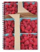 Raspberry Pints In Cardboard Flats Spiral Notebook