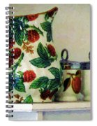 Raspberry Pitcher Spiral Notebook