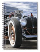 Rat Rod On Route 66 2 Panoramic Spiral Notebook