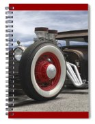 Rat Rod On Route 66 Panoramic Spiral Notebook