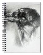 Raven Head Spiral Notebook