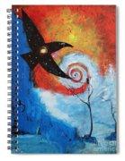Raven In The Swirl Spiral Notebook