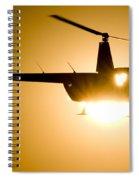 Raven Sun Spiral Notebook