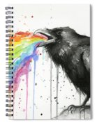 Raven Tastes The Rainbow Spiral Notebook