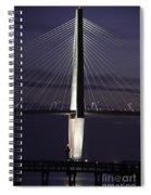Ravenel Bridge Night View Spiral Notebook