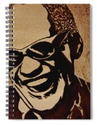 Ray Charles Original Coffee Painting Spiral Notebook