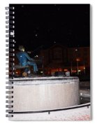 Ray Charles Statue In A Odd Weather Event Spiral Notebook