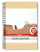 Ray Dietrich Packard Victoria Roadster Concept Design Spiral Notebook