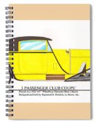 1922 Mercedes Benz By Raymond Dietrich Z Spiral Notebook