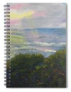 Rays Of Light At Burliegh Heads Spiral Notebook
