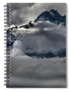 Rays Of Light On The Glaciers Spiral Notebook