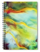 Rays Of The Sun Watercolor Abstraction Painting Spiral Notebook