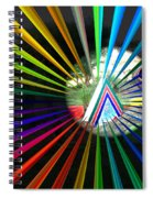 Rays To Triangle Spiral Notebook