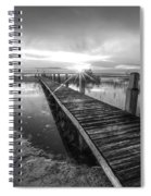 Reaching Into Sunset In Black And White Spiral Notebook