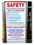 Read All Posted Rules Spiral Notebook