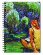 Reading In A Park Spiral Notebook