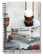 Reading In New Delhi Spiral Notebook