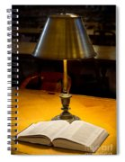 Reading Lamp And Book Spiral Notebook